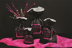 Black Wholesale Non Woven Gift Pouches