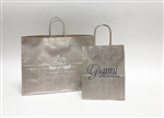 Metallic Champagne Tint On Kraft Shopping Bag