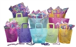 Colored Trapezoid Poly Bags