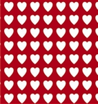 White Hearts On Red Valentine's Gift Wrap