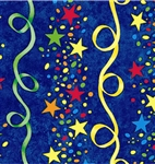 Stars And Streamers Gift Wrap