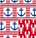 Ship Ahoy Reversible Gift Wrap