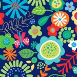Flower Fun Contemporary Gift Wrap