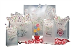 Clear Frosted Die Cut Handle Poly Bags