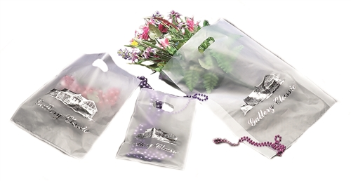 Frosted Clear Wholesale Merchandise Bags Branding Packaging