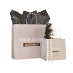 Griege On White Kraft Turn Top Bags