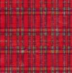 Metallized-Embossed Plaid  Giftwrap