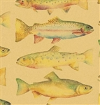 Rainbow Trout Fish Kraft Gift Wrap