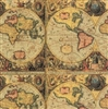 Old World Map Embossed Gift Wrap
