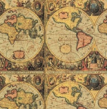 Old world map embossed gift wrap gumiabroncs Image collections