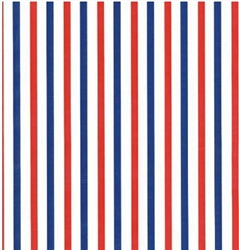 Red White And Blue Embossed Stripe Gift Wrap