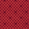 Red Foil Embossed Hearts Gift Wrap