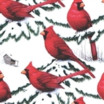 Red Birds And Snow Giftwrap