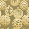 Metallized Embossed Ornaments Gift Wrap