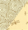 Dragonflies And Swirls Reversible Kraft Gift Wrap