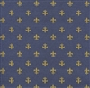 Navy & Gold Fluer De Lis Kraft Embossed Gift Wrap