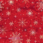 Red Holographic Snowflake