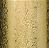 Gold Foil Embossed Paisley Gift Wrap