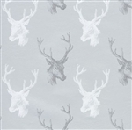 Silver Deer Metallized Gift Wrap