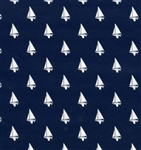 Navy Blue Sailboats Gift Wrap