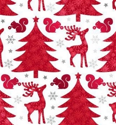 Red Deer And Trees Wholesale Gift Wrap Packaging