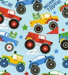 Monster Truck Gift Wrap
