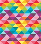 Bright Triangles Gloss UV Wholesale Gift Wrap