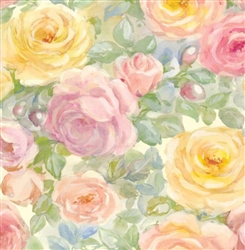 Watercolor Roses Embossed Wholesale Gift Wrap