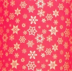 Red Gold Snowflakes Wholesale Gift Wrap