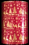 Christmas Promenade Metallized Gift Wrap