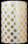 Gold White Dots Metallized Gift Wrap