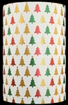 White Choke Christmas Trees Metallized Gift Wrap