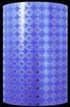 Blue Geometric Embossed Metallized Gift Wrap