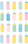 Baby Bottle Mix Gift Wrap