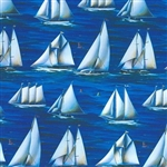 Sailboats Design Wholesale Gift Wrap Special Promo