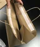 Natural Kraft Paper Peel & Seal Wholesale Take Out Bags