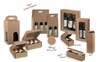 Tawny Ribbed Wholesale Wine Boxes