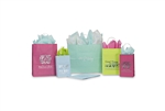 Matte Tints On White Wholesale Shopping Bags