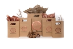 Natural Kraft Die Cut Wholesale Bags