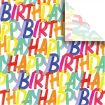 Rainbow Birthday Designer Wholesale Packaging Tissue