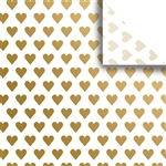 Golden Heart Designer Wholesale Packaging Tissue