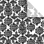 Black Damask Designer Wholesale Packaging Tissue