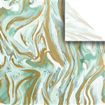 Marbleized Mint Designer Wholesale Packaging Tissue