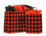 Red Buffalo Plaid Shopping Bags