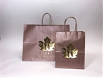 Metallic Rose Gold Tint On Kraft Shopping Bag