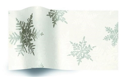 Pearl Silver Snowflake Wholesale Designer Printed Tissue