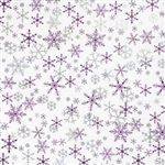 Silver And Purple Snowflakes Wholesale Designer Printed Tissue