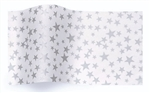 Silver Stars On White Wholesale Designer Printed Tissue