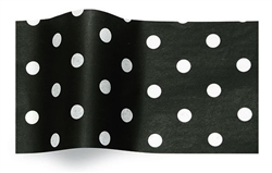 White Dots On Black Gift Tissue