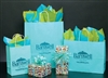 Turquoise Paper Shopping Bags